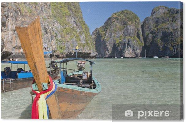 Obraz na plátně Dlouhý ocas loď na Phi Phi Leh - Voda
