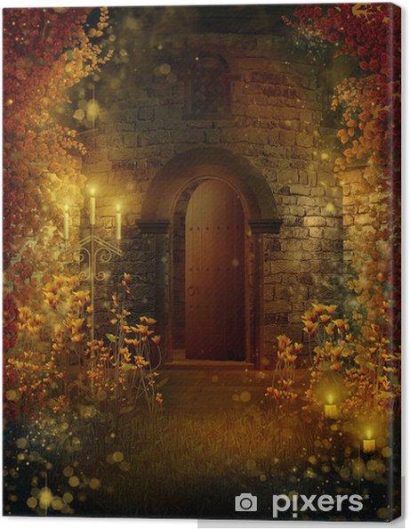 Obraz na plátně Dveře do věže kouzelnou - Ezoterika