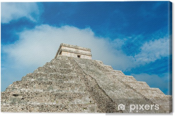 Obraz na plátně El Castillo nebo chrám Kukulkan pyramida, Chichen Itza, Yucatan - Amerika