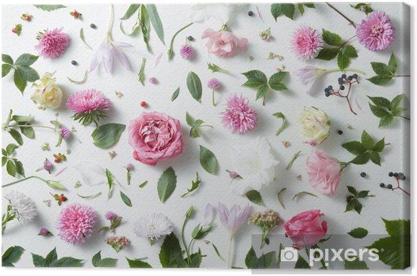 Obraz na plátně Elegantní pozadí růžových růží - Rostliny a květiny