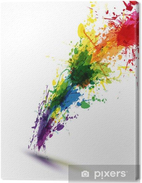 Obraz na plátně EPS10 vektor inkoust abstraktní pozadí - Styly