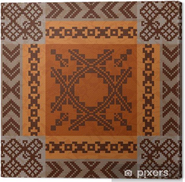 Obraz na plátně Etnické ornament koberec designu - Cestování