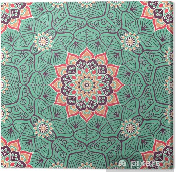 Obraz na plátně Etnický květinový vzor bezešvé - Grafika