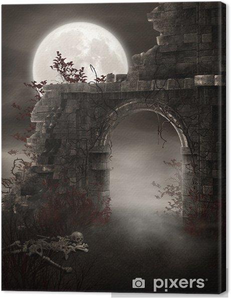 Obraz na plátně Fantom zřícenina skeletu - Ezoterika
