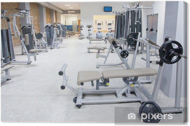 Obraz na plátně Fitness club tělocvična s sportovního vybavení interiéru - Zápasy a soutěže