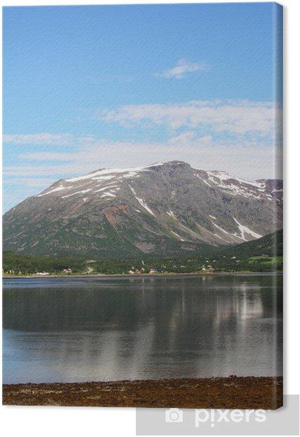 Obraz na plátně Fjord a hory - Evropa
