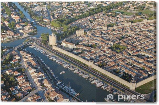 Obraz na plátně Foto aérienne remparts d'Aigues-Mortes - Ostatní Ostatní