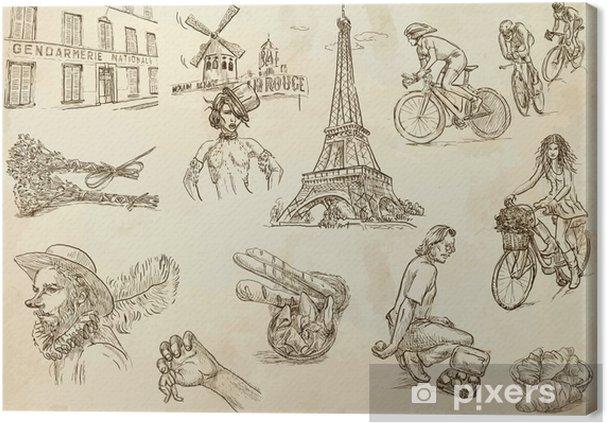 Obraz Na Platne Francie Cestovani Kolekce 2 Rucni Kresby Do