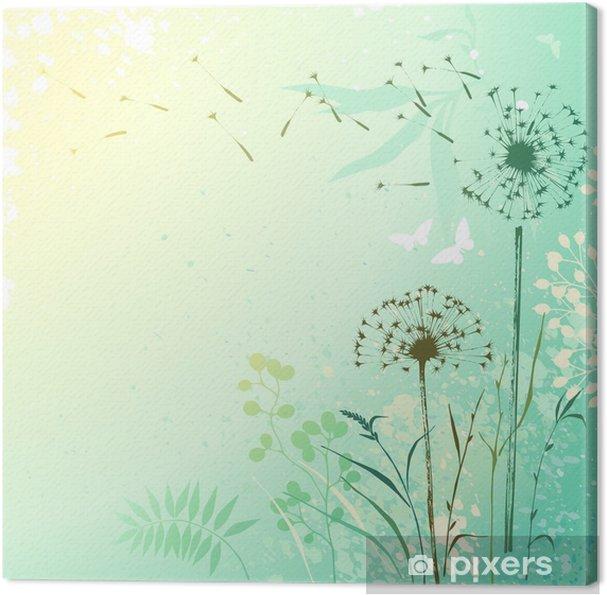 Obraz na plátně Fresh Pampeliška na pozadí - Témata