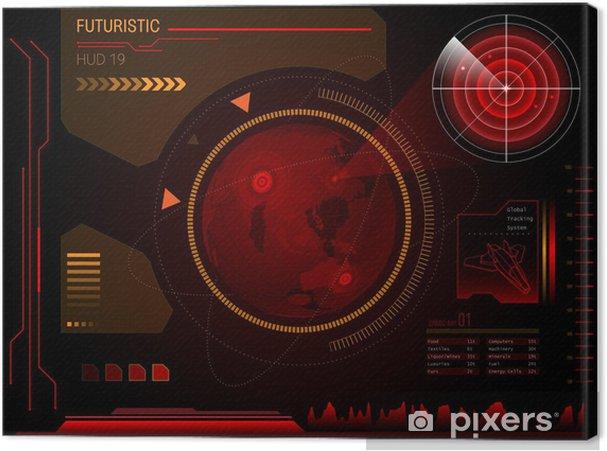 Obraz na plátně Futuristický uživatelské rozhraní HUD - Pozadí