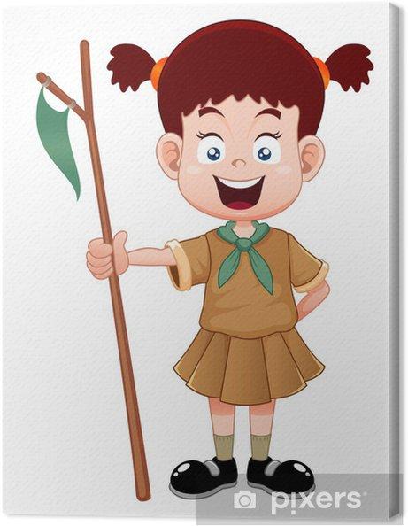 Obraz na plátně Girl Scout - Děti