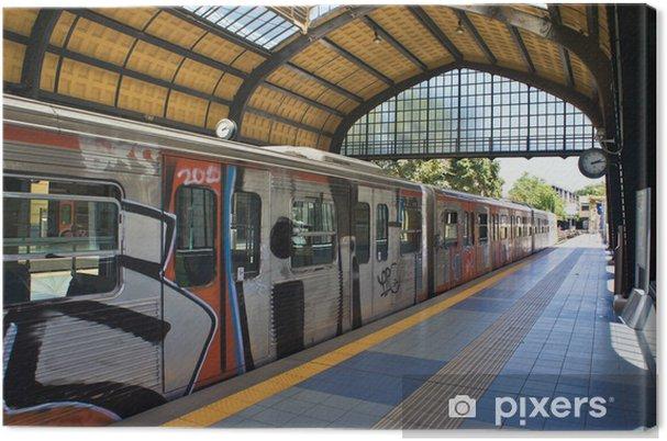 Obraz na plátně Graffiti vlak - Evropa