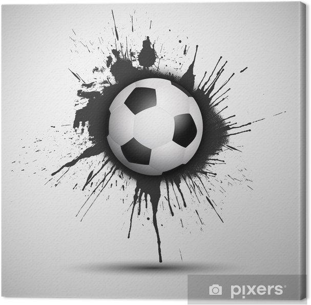 Obraz na plátně Grunge fotbal nebo fotbalový míč na pozadí - Týmové sporty