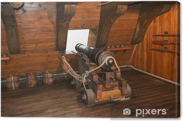 Obraz na plátně Gun dělo na vinobraní plachetnice - Násilí a zločin