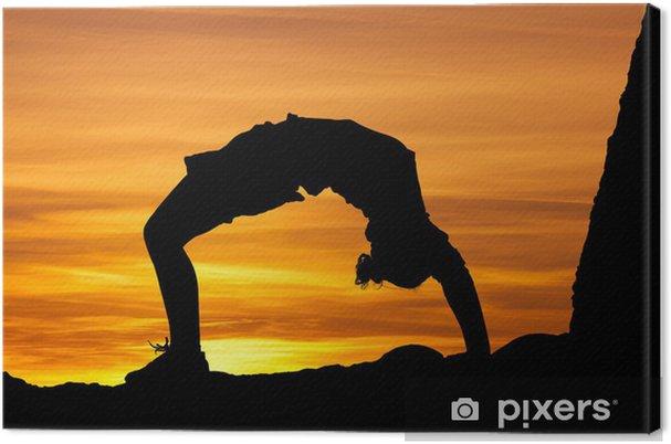 Obraz Na Platne Gymnastka V Zapadu Slunce Pixers Zijeme Pro Zmenu