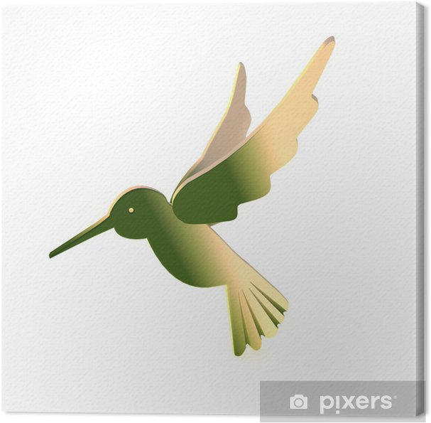 Obraz na plátně Holzvogel - Kolibri - Ptáci