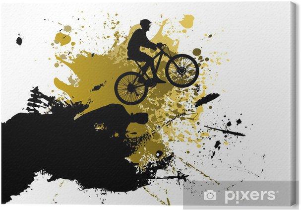 Obraz na plátně Horské kolo abstraktní pozadí - Cyklistika