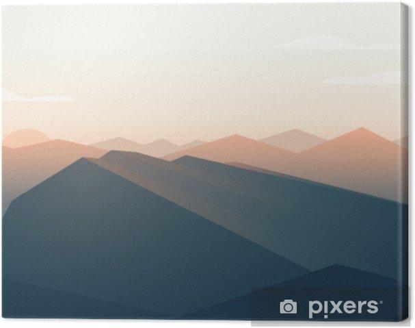Obraz na plátně Horské krajiny. západ slunce - Krajiny