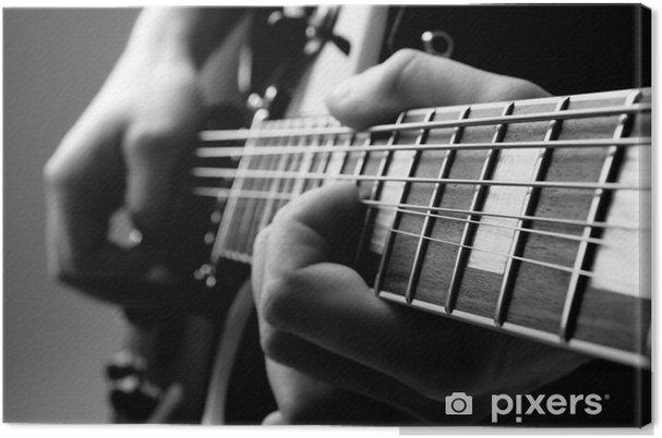 Obraz na plátně Hrát na kytaru - Jazz