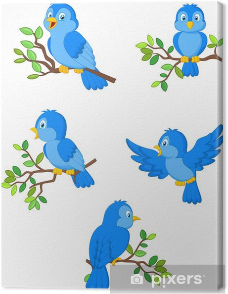 Obraz Na Platne Ilustrace Z Mnoziny Roztomilych Kreslenych Ptaku
