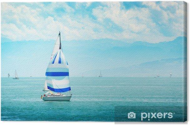 Obraz na plátně Jachta na moři - Voda