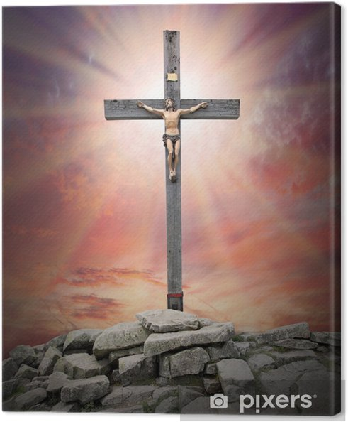 Obraz na plátně Ježíš Kristus na kříži - Témata