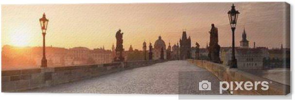 Obraz na plátně Karlsbrücke in Prag Panorama - Cestování