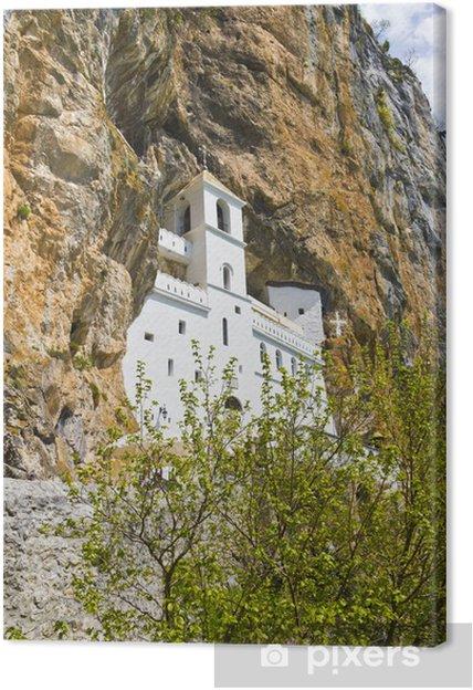 Obraz Klášter Ostrog umístěny ve svislé skalní  Černá Hora na plátně