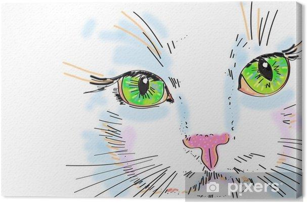 Obraz Na Platne Kocka Kresleni Na Tabletu Pixers Zijeme Pro Zmenu