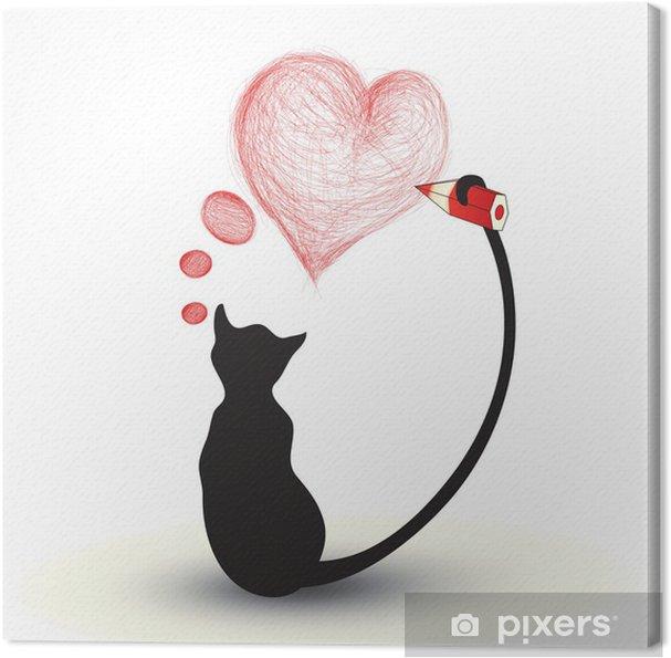 Obraz Na Platne Kocka Kresleni Srdce Pixers Zijeme Pro Zmenu