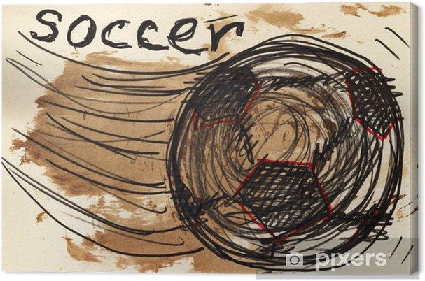 Obraz na plátně Kopaná - Sportovní potřeby