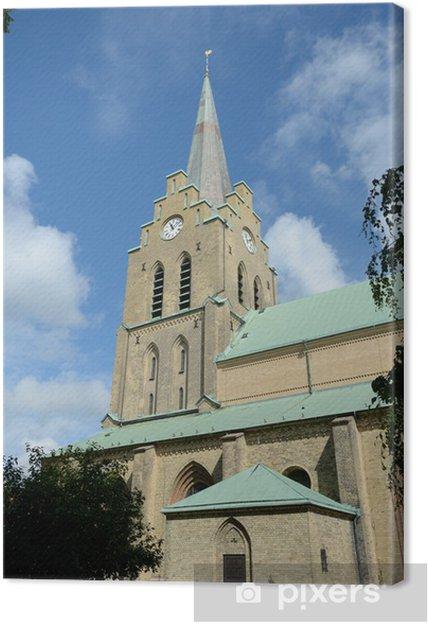 Obraz na plátně Kostel v Halmstad - Evropa