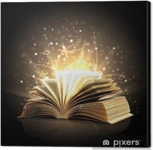 Obraz na plátně Kouzelná kniha s magickými světly - Zdraví a medicína