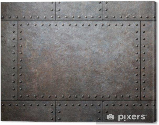 Obraz na plátně Kovový textura s nýty jako steampunk pozadí nebo textury - Styly