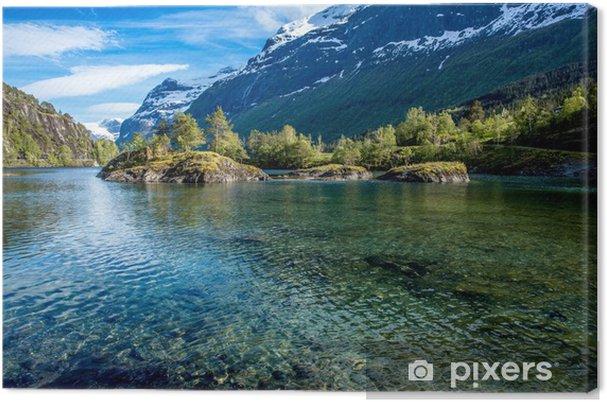 Obraz na plátně Krásná příroda Norsko. - PI-31