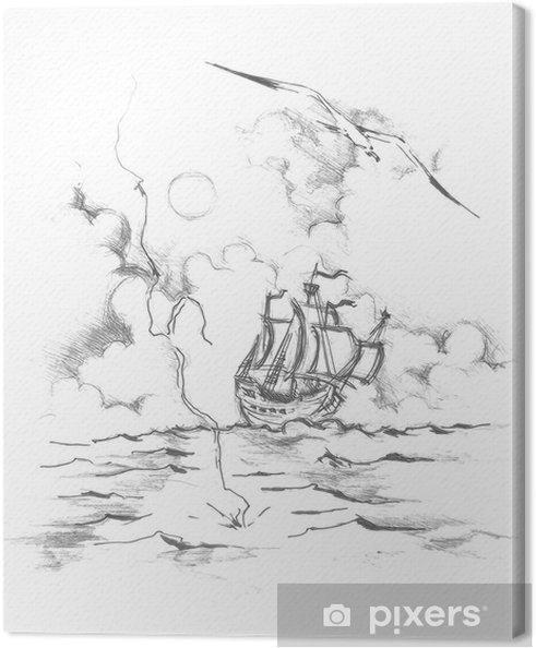 Obraz Na Platne Kresba Lod Pixers Zijeme Pro Zmenu