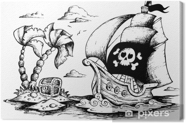 Obraz Na Platne Kresba Piratske Lodi 1 Pixers Zijeme Pro Zmenu