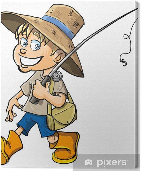 Obraz Na Platne Kresleny Rybar S Rybarskym Prutem Pixers Zijeme