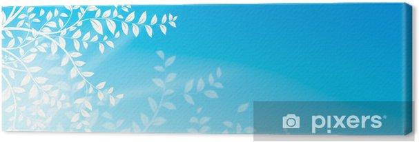 Obraz Na Plátně Květinový Vzor Blanc Naturel Sur Fond Bleu Ciel