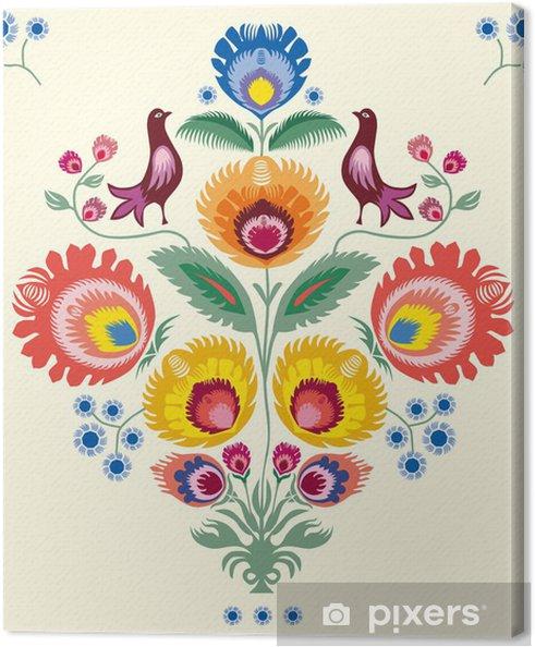 Obraz na plátně Květiny Lowicz - Styly