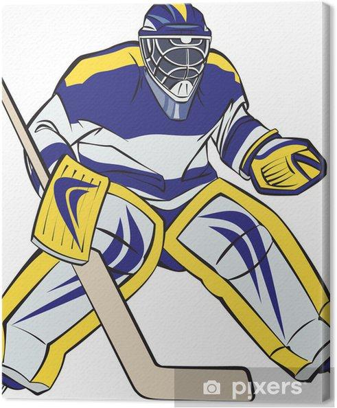 Obraz na plátně Lední hokej brankář - Muži