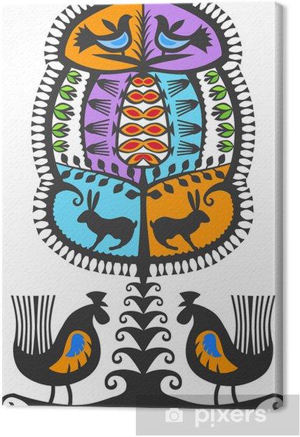 Obraz na plátně Leluja kurpiowka kolor - Struktury