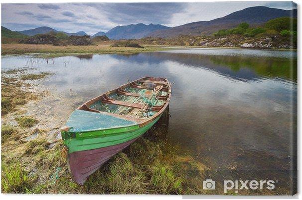 Obraz na plátně Loď u jezera Killarney v hrabství Kerry, Irsko - Evropa