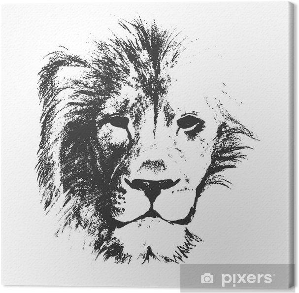 Obraz Na Platne Lvi Hlavy Kreslene Rucne Vektorove Ilustrace
