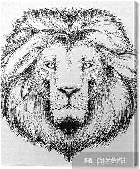 Obraz na plátně Lví hlavy -
