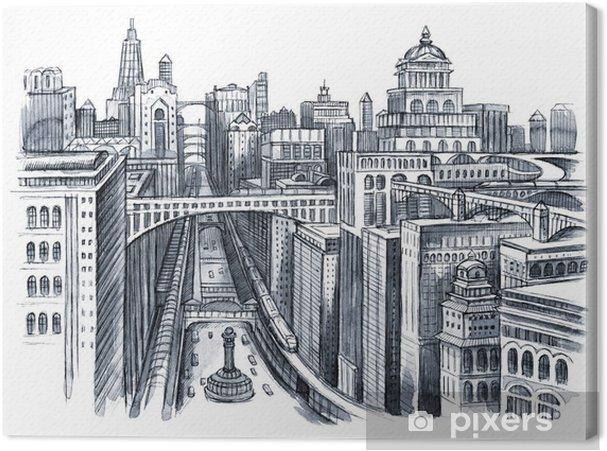 Obraz na plátně Malba městském - Na cestě