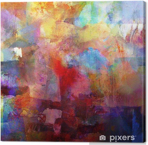 Obraz na plátně Malba textury - Koníčky a volný čas