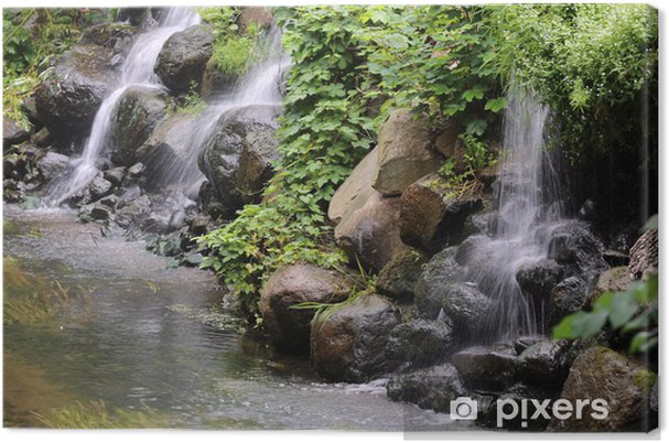 Obraz na plátně Malý vodopád - Outdoorové sporty