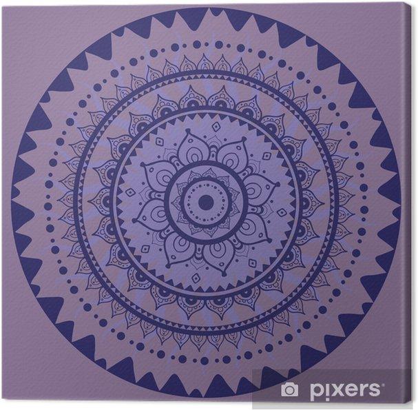 Obraz na plátně Mandala. Indická dekorativní vzor. - Styly