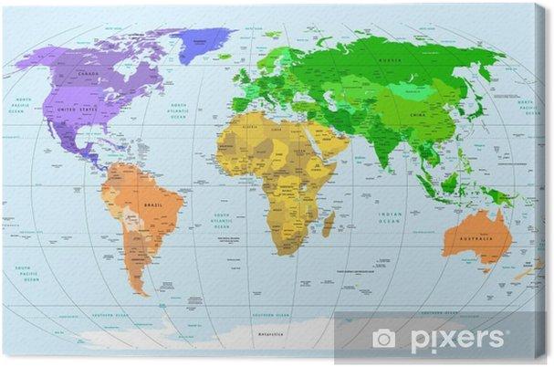 Obraz na plátně Map world - Témata